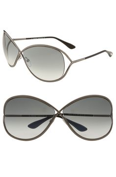 9c77850547 Main Image - Tom Ford  Miranda  68mm Open Temple Metal Sunglasses Tom Ford  Miranda