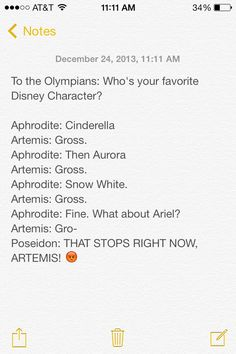 Uncle's orders!!!!! lol i think Artemis would be elsa or maybe anna (cuz even though anna does fall in love she saves herself instead f having a guy do it for her!)