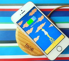 """47 Likes, 4 Comments - Fonesalesman (@fonesalesman) on Instagram: """"#iPhoneSE is charging on #WoodPuck the #bamboo #chargingpad . #Wireless #Charger #tech #stylish…"""""""