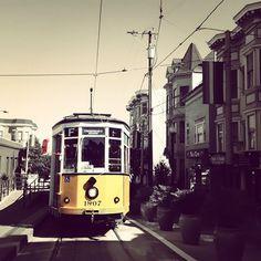 trolley in san frannn :)   i'll be on one next week!