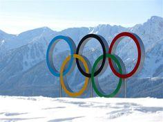 Olympic Rings At Sochi 2014