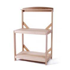 All Things Cedar Wooden Garden Potting Table #gardentable #gardenfurniture