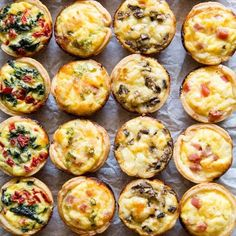 Skip the store-bought and make your own Mini Quiche! Try these 4 tasty combos or choose your own adventure. Make ahead/freezer friendly and great for kids! I remember trying Mini Quiche appetizers as Chicken Parmesan Recipes, Easy Chicken Recipes, Recipe Chicken, Healthy Chicken, Chicken Salad, Aperitivos Finger Food, Mini Quiche Recipes, Elegant Appetizers, Brunch Appetizers