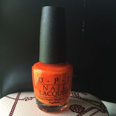 Brand new OPI in a bright orange who's name Idk Name tag of polish came off so I don't know the name but this polish is dope and anyone would enjoy OPI Makeup