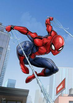 Spider-Man homecoming Art of devinart Marvel Art, Marvel Dc Comics, Marvel Heroes, Marvel Avengers, Amazing Spiderman, Spiderman Art, Miles Spiderman, Spiderman Tattoo, Black Spiderman