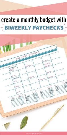 Are you struggling with how to budget your paychecks when you get paid every other week? Learn how to budget your money with biweekly paychecks. Budgeting Money | Budgeting Finances | How to Budget Your Money | Biweekly | Paycheck Budgeting #mommanagingchaos #budget #money