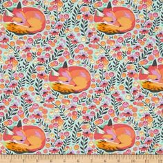 Tula Pink Chipper Fox Nap Sorbet Cotton Fabric