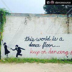 We're all just improvising. #Repost @dancesource #keepondancing #dancelife is #reallife