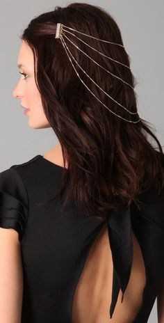 Belle Noel Pave Hair Chain - Can't pull it off to save my life, but its oh-so-pretty!