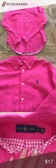 Ralph Lauren button down NWOT Such a great shirt. Super soft. Just the wrong size for me. Ralph Lauren Tops Button Down Shirts