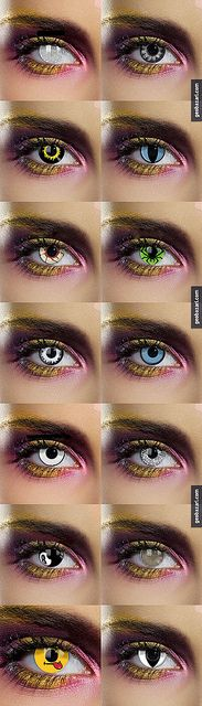 contact lenses. witch one do u like?? i like the one on the very bottom on the left. :) comment :)
