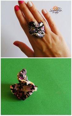 Sublime Metier: Inel Floare Flower Lei, Heart Ring, Rings, Flowers, Handmade, Jewelry, Hand Made, Jewlery, Bijoux