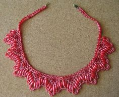 No tutorial, sorry. Bugle Beads, Pearl Beads, Beaded Jewelry, Beaded Necklaces, Crochet Necklace, Pendants, Crystals, Pattern, Crafts