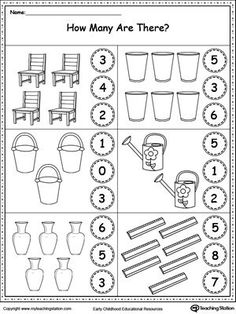 **FREE** Count the Objects in Each Group Worksheet. Practice counting and identifying numbers 2, 3, 4, 5, 6, and 7 with this printable worksheet. #MyTeachingStation: