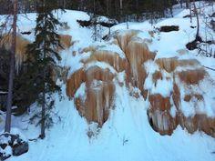 Frozen waterfalll in Lieksa | March 2017 | Photo: Tuomo Hiltunen