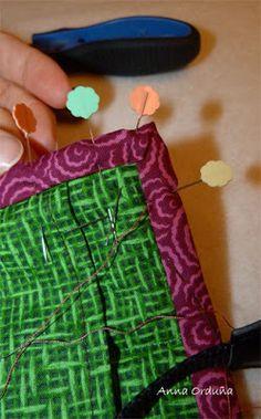 Anna Orduña - Mi Rincón de Patchwork: Tutorial: Bies simple para Quilts rectos Anna, Patches, Diy Crafts, Quilts, Sewing, Quilt Blocks, Home Made, Tutorials, Fabrics