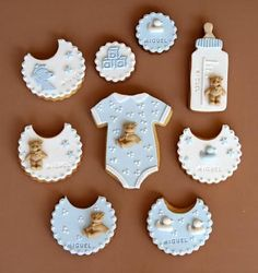 To know more about Pasteleria Alma baby stuff sugar cookies, visit Sumally, a social network that gathers together all the wanted things in the world! Featuring over 2 other Pasteleria Alma items too! Baby Shower Cakes, Baby Shower Parties, Baby Boy Shower, Fondant Cookies, Galletas Cookies, Cupcake Cookies, Sugar Cookies, Cookie Favors, Cupcake Frosting