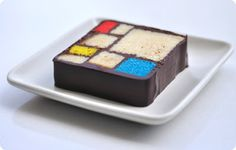 Ronna's Blog: Step-by-step Mondrian Cake