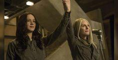 Katniss and President Coin #TheMockingjaylives #Mockingjaypart1