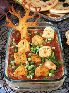 Guests will really want to get to the bottom of this haunted party dish. Get the recipe from Bored Fast Food »