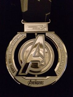 Inaugural Avengers Super Heroes Half Marathon Medal, 2014 -- from The Adventures of Team Wil-Sun: Avengers Super Heroes Half Marathon race report (finally!)
