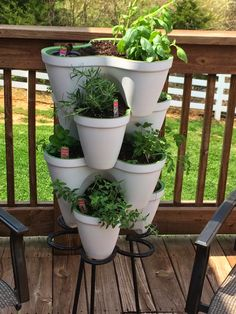 Stackable Herb Tree ~ Tales from a Domestic Briefcase