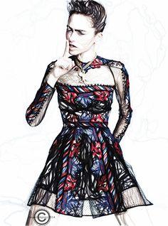 Illustration.Files: Valentino S/S 2014 Fashion Illustration by Nereida