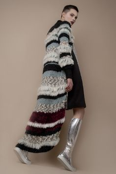 Hand-made knitting c