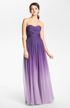 purple ombre wedding dress | Wedding / purple ombre bridesmaid dress