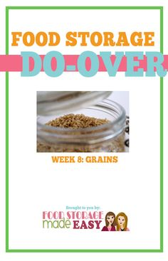 We are excited to be starting week 6 of our Food Storage Do-Over 2015! Last week we saw more great progress from all those participating in the water do-over and we are excited to keep going. If you didn't catch last week's post on revisiting your long term supply you can see it here. Also …