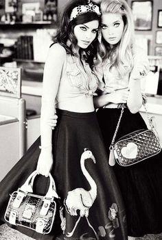 Alyssa Miller & Elsa Hosk by Ellen von Unwerth   Guess Fall Winter 2010 Campaign