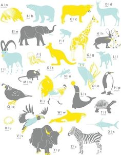 for the play room - Animal A-Z Poster
