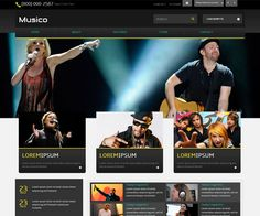 Stunning Music Website Templates for Your Band 2018 Music Website Templates, Listening To Music, Free, Musica