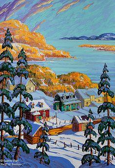 Vladimir Horik, 'La Baie de Saint-Paul', 18'' x 26'' | Galerie d'art - Au P'tit Bonheur - Art Gallery