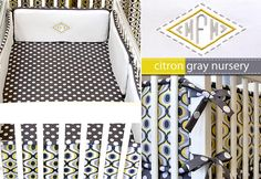 DIY tutorial on how to sew this WAY ADORABLE baby bedding!!!  LOVE LOVE LOVE the colors!!!!