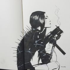 """kuciara: """" Continuing on new habit - sketchbook drawing right before crashing…"""