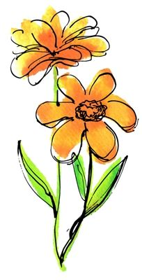 Flower Drawings Daisy Daydream 1007 - Coordinating Die Cut below. Watercolor Cards, Watercolor And Ink, Watercolor Flowers, Watercolor Paintings, Art Paintings, Indian Paintings, Watercolor Portraits, Watercolor Landscape, Abstract Paintings