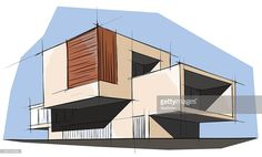 vector illustration of the architectural design.