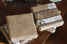 These small burlap canvas are so easy to decorate and hang on the wall. Only $0.99 each at Tuesday Morning and the perfect size for little hands to decorate.