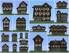 Medieval Building Pack (19 Buildings) Minecraft Project