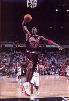 Black and Red Stripes Chicago Bulls #23 MJ