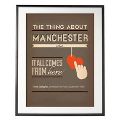 Noel Gallagher- Manchester, from the heart! Manchester Love, Manchester England, Midland Hotel, Stone Roses, Noel Gallagher, Salford, Print Fonts, Best Hotel Deals, Photography Projects