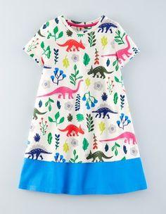 Florasaurus Colourblock Swing Dress Boden