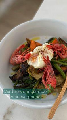 Shellfish Recipes, Shrimp Recipes, Grilled Vegetables, Scrambled Eggs, Boiled Eggs, Artichoke, Chefs, Asparagus, Tapas