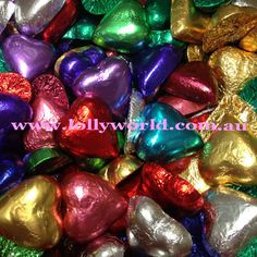 Mixed chocolate hearts are creamy milk chocolate in mixed colour foil. Add elegance to your special day with chocolate hearts for your wedding bonbonniere. Chocolate Hearts, Food Safety, How To Make Chocolate, Wedding Favours, Special Day, Wedding Chocolates, A Table, Color Mixing, Conditioner