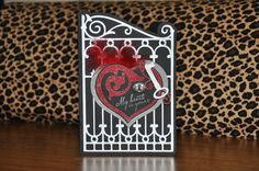 Valentine's Day Card using Ornamental Iron and a couple other cartridges.
