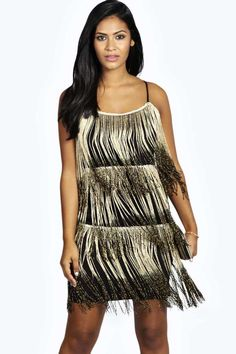 Melissa Fringe Metallic Dress