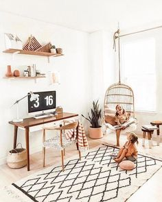 Home Decoration Candles Hanging Rattan Chair - Chairs Cute Dorm Rooms, Cool Rooms, Decoration Inspiration, Decor Ideas, Decorating Ideas, Interior Decorating, Bedroom Vintage, Modern Bedroom, Master Bedroom