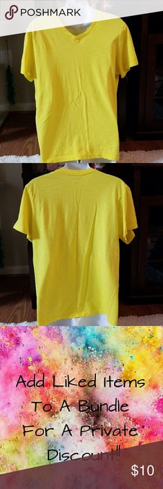 Men's Foot Locker Yellow Tee In excellent used condition. V-neck. Short sleeve. No stains or rips. Foot Locker Shirts Tees - Short Sleeve