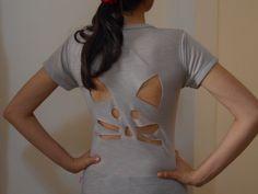 Customizando camiseta com recorte de gatinho -  customização de camiseta